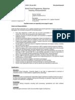 10031-Logistics Assistant SC-4 Maungdaw _Re-Advertisement