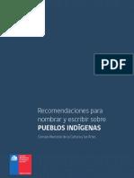 Recomendaciones Para Nombrar y Escribir Sobre Pueblos Indígenas