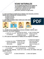 CIENCIAS NATURALES examen ev intermedia 3° 2017