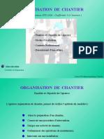 Cours Organisation de Chantier STS 1 Annee