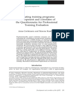 Grohmann 1309 Evaluating Training Programs
