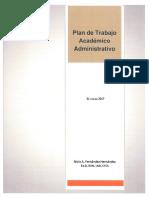 Plan de trabajo académico y administrativo de Nivia Fernandez