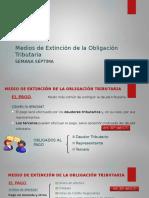 DERECHO TRIBUTARIO I (CÓDIGO TRIBUTARIO) - Semana 7 Medios de Extinción de la Obligación Tributaria