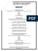 Victory Kitchen & Restaurant Breakfast Menu