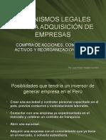 DERECHO COMERCIAL I (PARTE GENERAL)  - Societario, Exposición Adquisición de Empresas