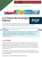2.3. Piezas de Un Programa Python