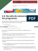 2.4. No Sólo de Números Viven Los Programas