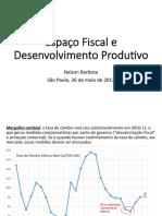 Nelson Barbosa - Espaço Fiscal e Desenvolvimento Produtivo