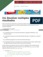 3.6. Devolver Múltiples Resultados