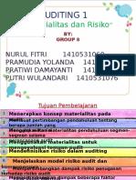 AUDITING I - Materialitas dan Risiko