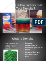 What Are the Factors That Affect Density