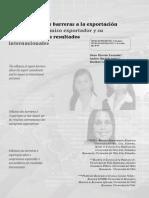 Influencia de Las Barreras de Exportacion Colombia