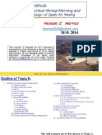 Surface Mining Planning and Design of Open Pit Mining(1)