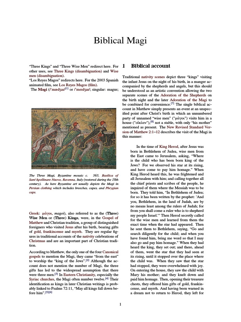 Biblical Magipdf Biblical Magi Magi