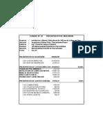 Evaluacion Economica -Expediente Tecnico Tara Diony