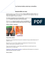 Como Se Curan Las Hemorroides Externas Remedios Caseros.