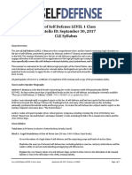Law of Self Defense LEVEL 1 CLE ID Syllabus 170930 v170403