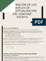 Exploración de Los Niveles de Conceptualización Del Lenguaje