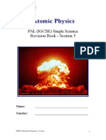 Section 5 - Atomic Physics - With Notes Page