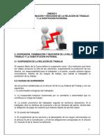 1 Suspensión, Terminación y Rescisión de La Relación de Trabajo y La Sustitución Patronal