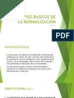 Principios Basicos de La Normalización