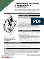 Equipo de Proteccion Personal (Ppe1) Para Exposicion a Sustancias Quimicas