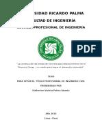 ESTUDIO PREVIO PARA EL MEJORAMIENTO DEL DISEÑO DE PRESAS DE RELAVE EN CONGA