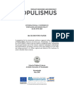 POPULISMUS Background Paper