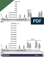 Sección arquitectónica de vía