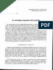 Scannone La Teologia Argentina Del Pueblo Gregorianum