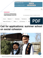 Call for Applications_ Summer School on Social Cohesion _ SIPRI