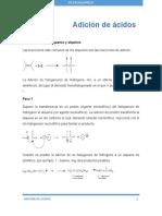 Adición de Ácidos Halogenhidricos a Alquenos y Alquinos-resume