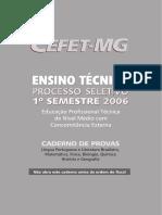 CEFET-MG - 2006 - Ensino Técnico Concomitância Externa - 1° simestre.pdf