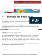 4.1. Expresiones Booleanas