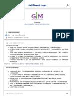 Chemist Job - Gim Cosmetic Industries Sdn. Bhd