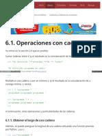 6.1. Operaciones Con Cadenas