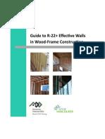 Effective Walls Wood Frame Construction