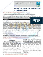 Intrusion Detection in Industrial Automation by Joint Admin Authorization