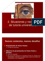O.E. y T. universitaria, 2-¦ presentaci+¦n Dra. M++ller