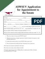 Senate Application