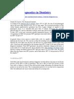 Salivary Diagnostics in Dentistry