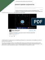 Une Mystérieuse Explosion Spatiale Surprend Les Astrophysiciens