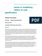 Developments in Modelling and Simulation of Coal Gasification