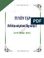 [123doc] Tuyen Tap 50 de Thi Hoc Sinh Gioi Mon Tieng Anh Lop 12 Co Keys