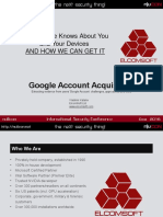 What Google Knows About You and Your Devices and HOW WE CAN GET IT by Vladimir Katalov
