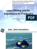The Importance of Data Mining in IT Industry