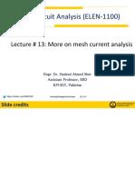 Lecture # 13 ELEN