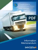 100429 Swanbank Information Memorandum