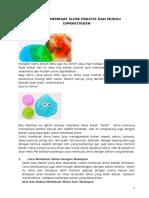 10 Cara Membuat Slime Praktis Dan Mudah Dipraktikkan