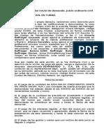 Modelo de Escrito Inicial de Demanda Juicio Ordinario Civil